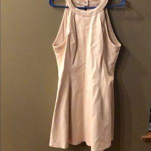 Rachel Roy vegan leather cream dress. Size 12